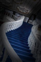 Stairway (nige.leblanc80) Tags: blue carpet stairs steps marble mosque bannister rail curved brunei