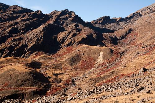 Montée au col de Laurebina (4610m)