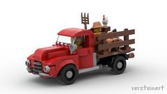 Classic Farmer Truck (skallesplitter) Tags: lego legoideas legocar 50s 60s vintage retro classiccar minifigscale minifigurescale hillbilly redneck deliverytruck grocerytruck animals