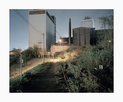 Krefeld, 2018 (Darius Urbanek) Tags: 120 65mm 6x7 kodak mamiya7 portra400 analog color film longexposure mediumformat night krefeld industry