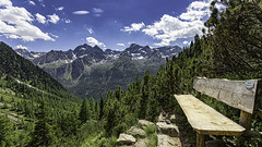 Let's have a break (++sepp++) Tags: gries landscape landschaft wandern winnebachseehütte ötztal hiking österreich austria tirol tyrol bank bench berge mountains sonnig sunny thechallengegame