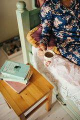 Woman laying in bed and read book with cup if coffee (shixart1985) Tags: beautiful bed bedroom book books breakfast caucasian chill chilling coffee cold colorful comfort cozy cup fashion flowers freelancer girl happy hot interior lifestyle morning pajamas pretty reading riding rusitc sleep style vintage wakeup winter wooden worker young