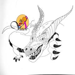 Inktober Rewind: Day 12 – Dragon 11/7 (VixenMink) Tags: dailyposts blackandwhite contrast cwcinktober2019 draconian dragon dragons fantasy goals ink inktober inktober2019 inktoberday12 jakeparker traditionalart vixenmink