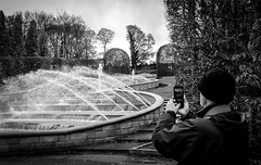 Alnwick Gardens . (wayman2011) Tags: colinhart fujifilm23mmf2 fujifilmxt1 lightroom5 wayman2011 bwlandscapes mono gardens fountains people photographer northumberland alnwick uk