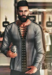 [ 📷 - 157 ] (insociable.sl) Tags: hipster shop tumbler barbershop coffee beard boy man male model edit sl secondlife amias