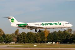 D-AGPG (PlanePixNase) Tags: aircraft airport planespotting haj eddv hannover langenhagen fokker 100 f100 germania
