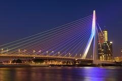 Special night in Rotterdam (Silviu Gheorghe) Tags: rotterdam holand night street urban nikon d850 water colours longexposure travel destination city cityscape arhitecture design modern bridge