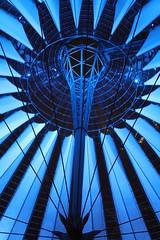 Blue (Sven Bonorden) Tags: licht light blue blau dach roof berlin potsdamerplatz sonycenter