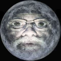 Moonstruck (superdavebrem77) Tags: moon selenology selfie whimsy fantasy maninthemoon