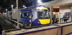 Abellio Scotrail Class 170 170411 at Glasgow Queen Street Platform 7 on service 1A83 (07-11-19) (Rikki Cameron) Tags: trains abellio scotrail scotrailsaltireblue class170 1704 170411 turbostar bombardier glasgowqueenstreet 1a83