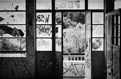 It's knowing that your door is always open  And that you path is free to walk (Livesurfcams) Tags: ubex abandoned factory torrington taddiport film kodak expiredfilm nikonf5 85mm dairycrest art graffiti spraycanlove