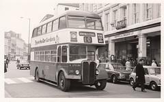 1956/57 AEC Regent V/Park Royal XTO261 Nottingham City Transport, late 1960s? (Spottedlaurel) Tags: xto261 aec regent nottinghamcitytransport