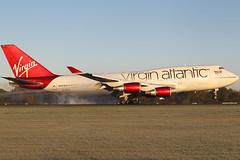 G-VXLG Boeing 747 41R Virgin Atlantic Airways (Barry Swann) Tags: sigmalense sigma canoncamera canon longhaul mag manchesterinternationalairport manchesterairport manchester man condensation landing everett seattle jumbojet jumbo heavy b747 boeing747 virginatlanticairways 1dmk1v gvxlg touchdown tyres smokey rubytuesday