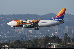 Southwest B737 N945WN (Sandsman83) Tags: los angeles klax lax airplane aircraft plane landing specialscheme speciallivery southwest boeing 737 n945sw florida one flag