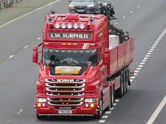 L.W.Surphlis, Scania Super T500 (T80LWB) On The M62 Eastbound Passing Rawcliffe Flyover (Gary Chatterton 7 million Views) Tags: lwsurphils scaniatrucks scaniat500 t80lwb trucking wagon lorry haulage distribution logistics motorway flickr canonpowershotsx430 photography