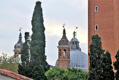 Towers of Chiesa San Giorgio Maggiore (Sokleine) Tags: sangeorgio church chiese église religion catholic culte masterpiece heritage venice venezia venise veneto italia italie italy eu unesco europe