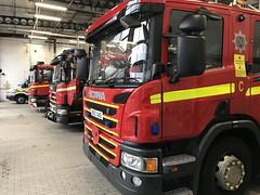 "Liverpool City Centre (Flikrman Gaz) Tags: ""fireengine"" ""firetruck"" scania red"