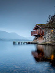 Duke of Portland Boat house, Ullswater (Michael Long Landscaper) Tags: nature landscape water still reflection cumbria lakedistrict nationalpark smooth canon eos ef1635mm boathouse ullswater pooleybridge fells hills trees mountains countryside england uk lake portland