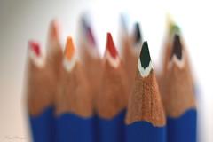 Sharpened point... (Maria Godfrida) Tags: weeklythemechallenge getthepoint pencils colouringpencils crayons sharpened sharp closeup macro blurred