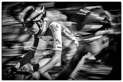 A pleine vitesse (Dom-35) Tags: bw blackwhite cyclisme noirblanc noiretblanc sport vélo