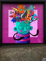 Seattle_Downtown_Grafitti_Walking_PInk (Zero State Reflex) Tags: seattle downtown grafitti photography iphonex zerostatereflex art streetart wa pnw walking