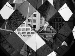 Fun with angles (grannie annie taggs) Tags: monochrome lines angles shapes reflections