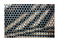 trous No-Man's-Landaises devant des rayures lumineuses (Armin Fuchs) Tags: arminfuchs nomansland fence hff trous holes stripes light shadows diagonal anonymousvisitor thomaslistl wolfiwolf jazzinbaggies naturallayer