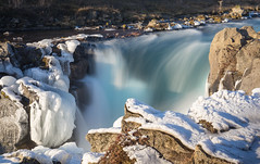 Snow and Waterfall (incastar7) Tags: rocks frozen river winter waterfall snow