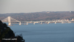 Governor Mario M. Cuomo Bridge on the Hudson River, Tarrytown, New York (jag9889) Tags: 2019 20191106 alpine bergencounty cablestayed gardenstate hudsonriver k893 mariomcuomobridge nj ny newjersey newjerseysection newnybridge newyork outdoor pip palisades palisadesinterstatepark park river statelinelookout tappanzeebridgereplacement tarrytown usa unitedstates unitedstatesofamerica water waterway westchestercounty jag9889