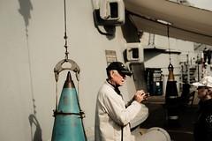 Educating. (purefunk714) Tags: ussiowa battleship veteran tour educating armorpiercing 35mm fujifilmxt30 fujicolor sanpedro grateful