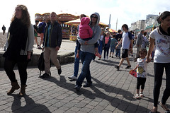 Carrying a child (kevin Akerman) Tags: carrying man child toddler seafront brighton