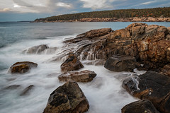 Morning at Otter Cliffs (MichellePhotos2) Tags: otter cliffs morning acadianationalpark acadia national park parklooproad fall autumn nikon d850 nikond850 maine prime 35mm ocean water waves trees rocks atlantic