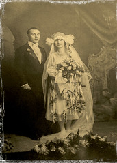 Mr.  John Melocheck and Mrs Anna Melocheck (Helen Orozco) Tags: 79119 119picturesin2019 oldfashioned oldphotograph sepia wedding mrmrs backintheday