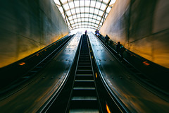 Who Was It Made Your Eyes Flicker Like That? (Thomas Hawk) Tags: america dc districtofcolumbia metro usa unitedstates unitedstatesofamerica washingtondc architecture escalator fav10 fav25 fav50 fav100