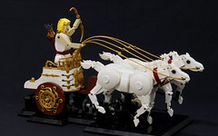 Apollo (JK Brickworks) Tags: lego apollo greek god horse horses galloping kinetic sculpture art