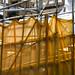 Yellow debris netting