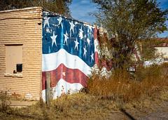 old mural (Windswept.west) Tags: mural odessa flag tamron247028 nikond5200 red white blue starsandstripes