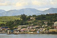 A0597SANTIb (preacher43) Tags: cuba santiago de bay water trees mountains village fishing