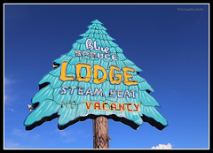 The Blue Spruce Lodge - Gallup, New Mexico (Vintage Roadside) Tags: vintageroadside gallup newmexico route66 route66motel route66neon motelsign neonsign getyourkicks bluesprucelodge