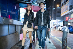 Night out (人間觀察) Tags: 28mm f14 7artisans 七工匠 leica leicam hong kong street photography people candid city stranger public space walking off finder road travelling trip travel 人 陌生人 街拍 asia girls girl woman 香港 wide open