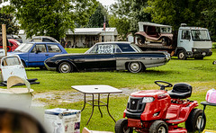 $2.5K (risingthermals) Tags: united states america usa north americans country events yard garage sale selling outside car vehicle antique vintage lawn mower riding sign for ky kentucky tn tennessee
