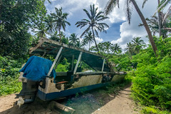 End of the line (agasfer) Tags: 2019 fiji beqa blr pentax k3 sigma1020 boats decay wrecks palm trees