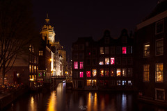 Amsterdam Red Light District at night (gilles-B) Tags: ancient colored netherlands historic church street water city windows background red armbrug illuminated district twilight architecture canalhouse cityscape amsterdam traditional view night historical houses building reflection exterior old landmark famous canal outdoor bridge evening town light holland destinations blue urban dutch beautiful river travel house colorful scene european retro tourism sky europe