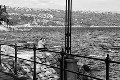 photographer (boriskombol) Tags: bw bnw bn blackandwhite blancoynegro biancoenero nb noiretblanc cb crnobijelo sw schwarzweis monochrome mono monotone monocromatico monocromo canon eos 6d ef24105l outside outdoor mar meer mer sea wasser water eau agua barandilla geländer balustrade railing photographe photographer fotograf fotógrafo opatija croatia