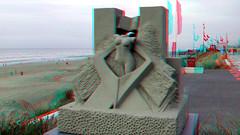 Zandvoort aan Zee 3D (wim hoppenbrouwers) Tags: anaglyph stereo redcyan zandvoort zee 3d zandsculpture ek 2017 fergus mulvaney irl zandvoortaanzee boulevard anaglyphstereoredcyanzandsculpture ek2017 fergusmulvaney