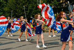 Colors Team (risingthermals) Tags: united states america usa suburbs chicagoland il midwest parade cheer smile smiling happy woman women marching walking participants americans people cheerleaders
