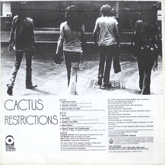 Restrictions - Back Cover (epiclectic) Tags: 1971 cactus backcover epiclectic vintage vinyl record album cover art retro music sleeve collection lp epiclecticcom