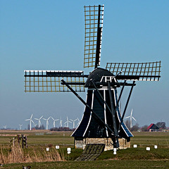 Workum, Holland, Netherlands (pom'.) Tags: friesland súdwestfryslân westfrisian netherlands holland workum mill windmill ybemasmolen drainagemill smockmill 1899 panasonicdmctz10 europeanunion windturbines
