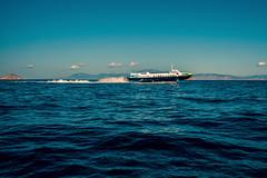 Island hopper....... (Dafydd Penguin) Tags: hydrofoil ferry vessel boat ship flying saronic gulf greece aegean sea water scape mediterranean greek salamis island leica m10 35mm summicron f2 asph