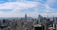 South Manhattan Panorama from Top of the Rock (gilles-B) Tags: bridge financial street us city panorama architectural modern office district midtown empire state architecture trade business building sunset landmark cityscape metropolitan town dusk urban skyscrapers usa york nyc american ny water center background brooklyn united panoramic contemporary scenic outdoors america downtown view newyork observatory world manhattan lowermanhattan metropolis buildings sky one east travel new high famous blue skyscraper wtc historic river tower newyorkcity bigapple skyline hudson aerial tourism suspension exterior